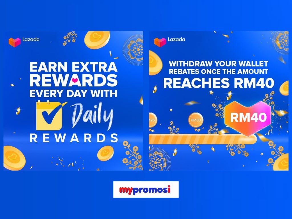 Lazada Daily Reward RM40