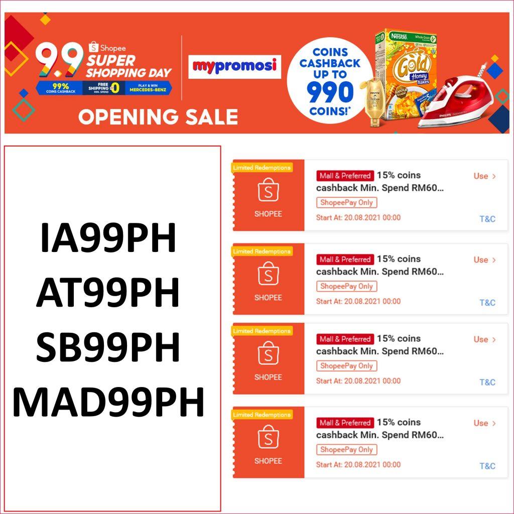 Shopee 9.9 Opening Sale Kod Baucar